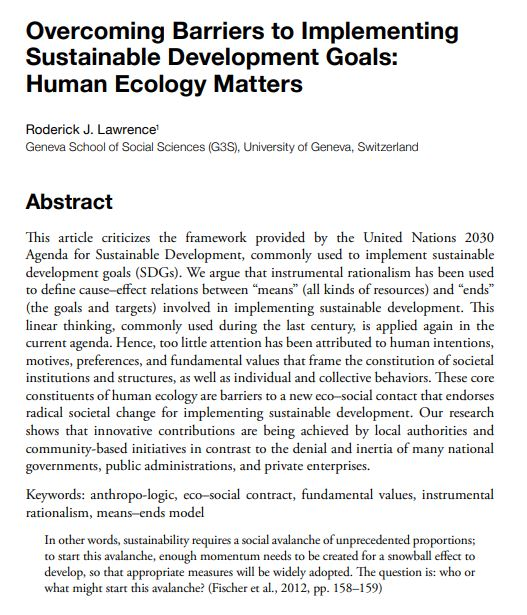 Paper: Overcoming Barriers to Implementing Sustainable Development Goals